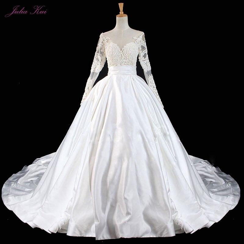 Full Ball Gown Wedding Dresses: Romantic Luxury Handwork Beading Pearls Ball Gown Wedding