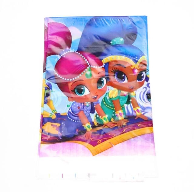 1pcs Girls Shimmer And Shine Baby Shower Party Tablecloth Plastic