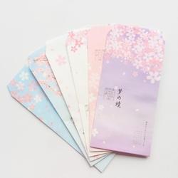 6 шт. свежий сон Сакура бумага конверт творческий DIY инструмент поздравительная открытка Обложка Скрапбукинг подарок