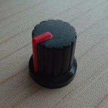 50Pcs High quality plastic potentiometers knobs Knob for single double potentiometers,plastic knob,speaker accessories mixer fader slide potentiometers single 8 8 cm a10k union