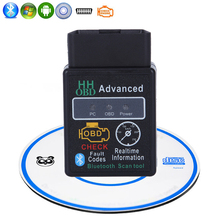 Super Mini HH OBD Advanced Bluetooth ELM327 Scan Tool Engine Car Auto Diagnostic Scanner Tool Interface Adapter V1.5 For Android