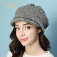 Charles Perra Brand Beret Female Autumn Winter New Korean Version Women Hats Caps Fashion Keep Warm Casual Match 9539