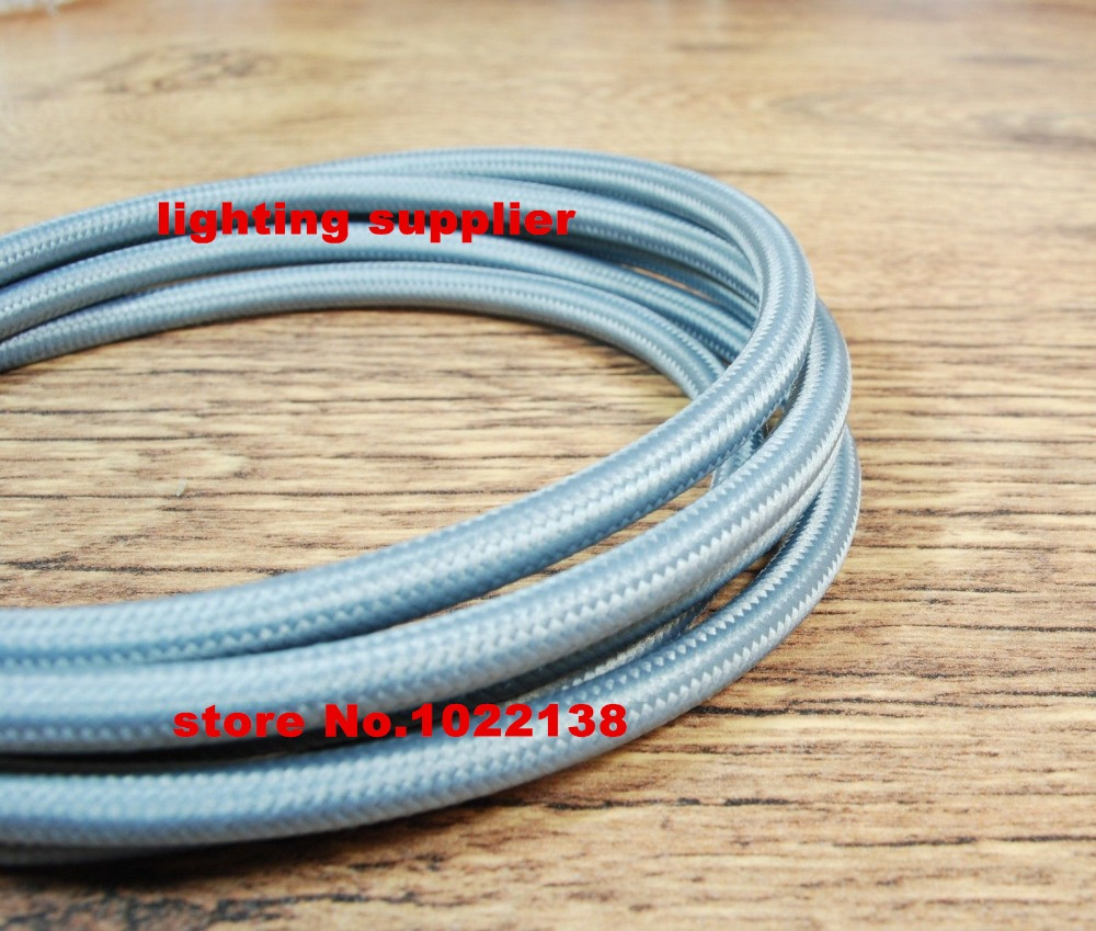 10m/lot VDE certified 2 core Round Textile Electrical Wire Color ...