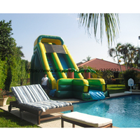 2018 Hot selling cheap inflatable bouncer, outdoor pool inflatable dry slide for kids and adults