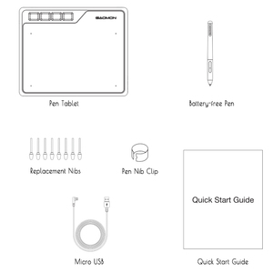 Image 5 - GAOMON S620 6.5X4 Inch Bút Kỹ Thuật Số Máy Tính Bảng Anime Đồ Họa Máy Tính Bảng Cho Vẽ & Chơi OSU Với 8192 Mức pin Bút