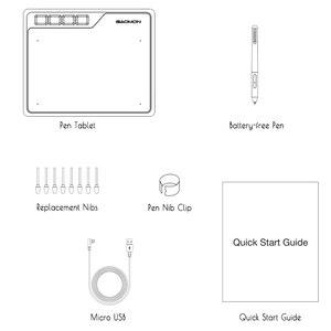 Image 5 - قاومون S620 6.5x4 بوصة الرقمية القلم اللوحي أنيمي جهاز كمبيوتر لوحي للرسومات للعب OSU مع 8192 مستويات القلم خالية من البطارية