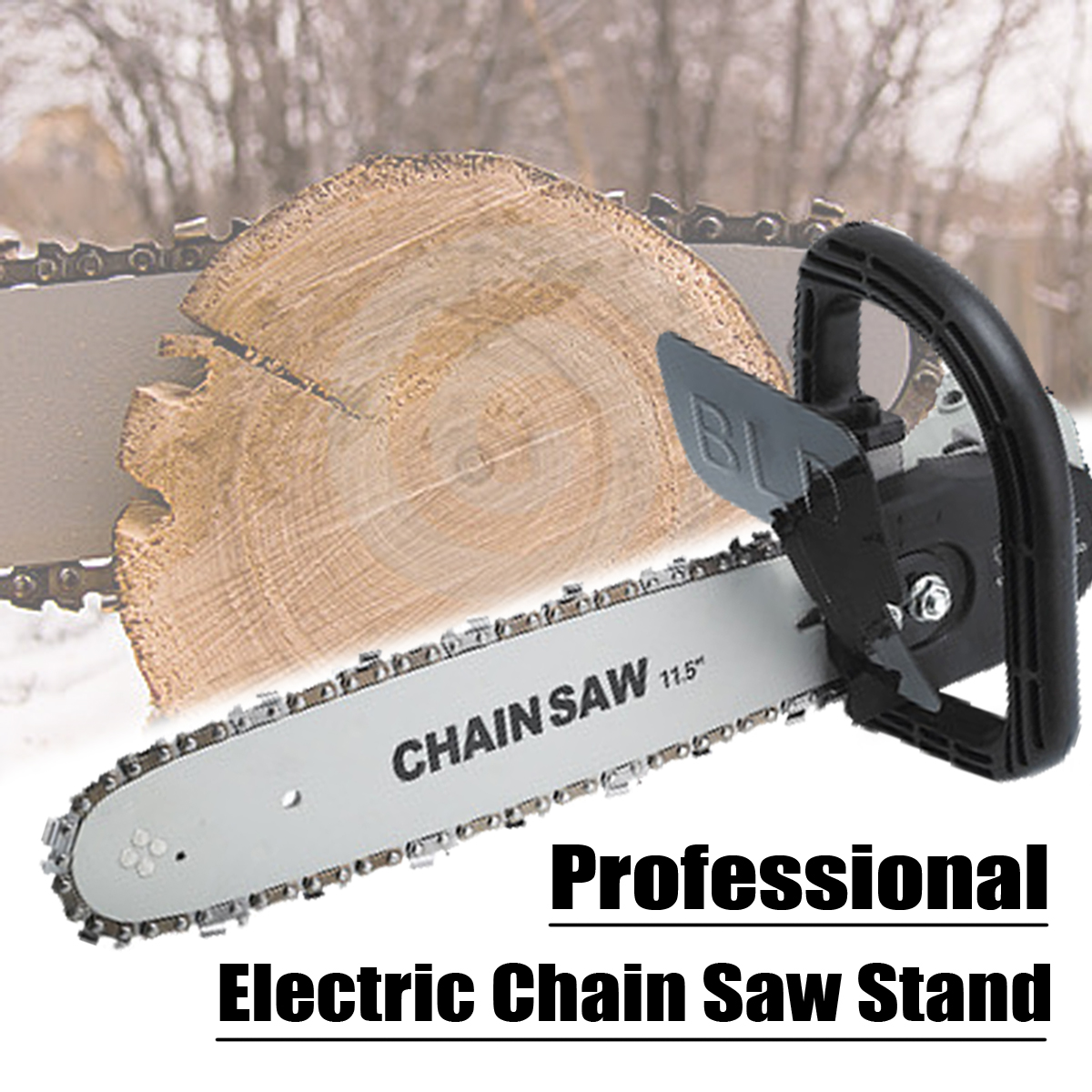 DIY Electric Saw Chainsaw Bracket Set High Carbon Steel M10 Transfer Conversion Head For 4 Inch Angle Grinder Power Tool Parts