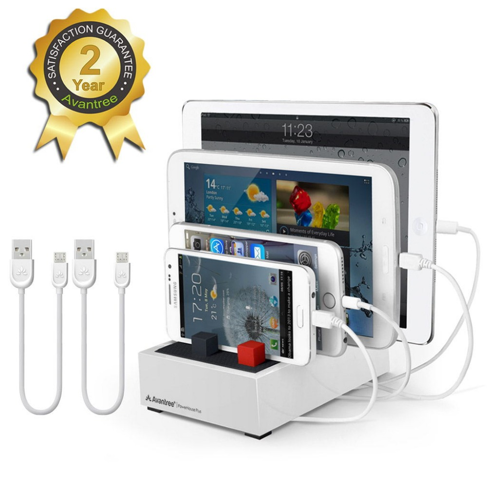 ФОТО [2016 Version] Avantree Fast Multiple Devices Charging Station Universal Docking For Smartphones & Tablets PowerHouse Plus White