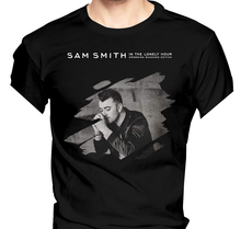 Men Sam Smith In The Lonely Hour Fashionable Music Band Short Sleeves T Shirt Stranger Things Print T-Shirts Original sam smith sam smith in the lonely hour deluxe 2 lp