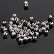 35 мм тибетские посеребренные разделительные бусины металлические