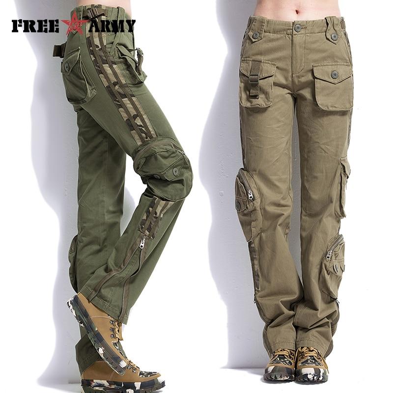Casual Pants Jogger Men Unisex Military Army Plus-Size Khaki Brand
