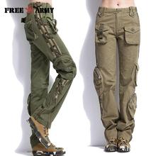Marka Plus rozmiar Unisex Cargo spodnie na co dzień spodnie Jogger mężczyźni wojskowe armii zielony spodnie kamuflaż spodnie dresowe spodnie taktyczne spodnie Khaki tanie tanio Pełnej długości Free Army 2 01-3 51 Lekki TO7305-2 Luźne Suknem Mieszkanie Elastan COTTON Cargo pants Kieszenie Chiny (kontynentalne)