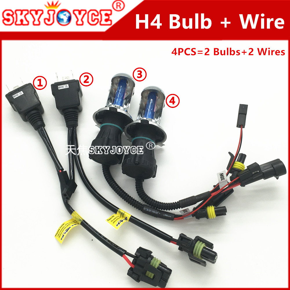 35w H4 Bixenon 3000k 4300k 6000k 8000k 10000k 12000k 30000k Bi Xenon Bulb Wiring 3 Hi Lo Hid Bulbs Controller Relay Harness In Car Light Assembly From