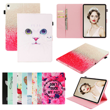 Funda Case For Apple iPad mini 1 2 3 4 5 Fashion 3D Printed Cute Cat PU Leather Flip Wallet Cover 7 for 2019