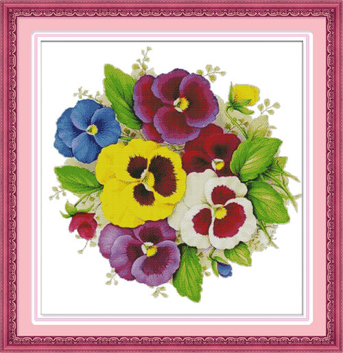 Tulip Colorful Flower Carp Painting 11ct Counted Printed On Canvas Dmc 14ct Chinese Cross Stitch Kits Embroidery Needlework Sets Arts,crafts & Sewing