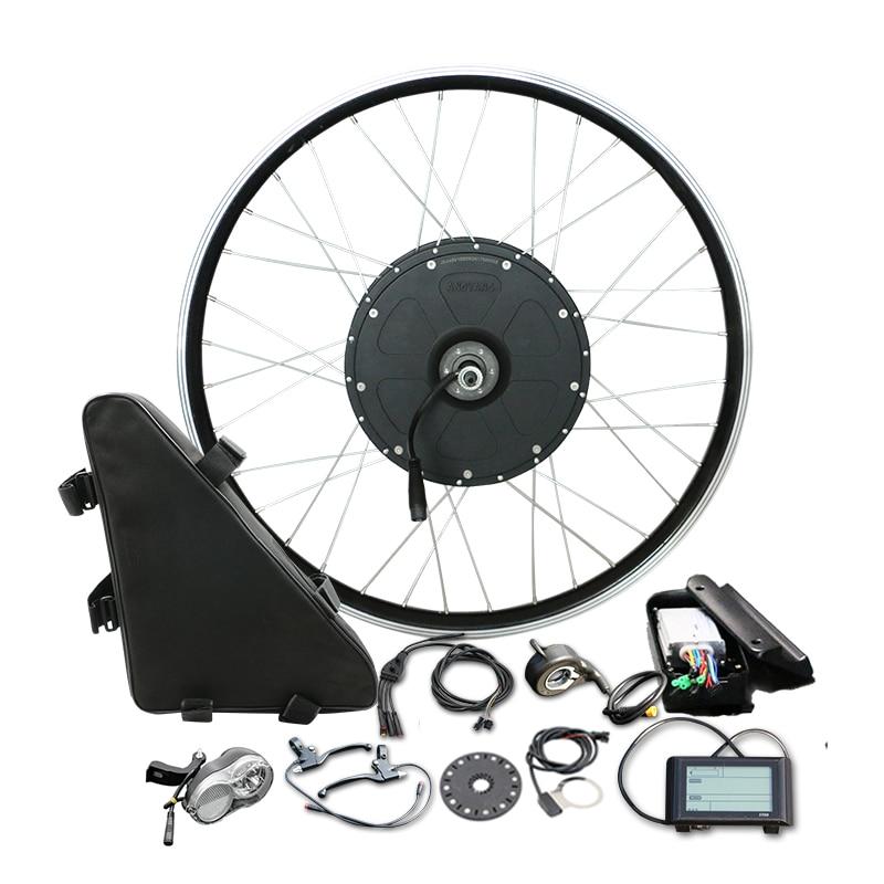 48 V 1000 W Triangle sac électrique vélo moteur roue grande puissance pour vtt vélo Kit de Conversion pour 26 ''700C arrière roue Ebike pièces
