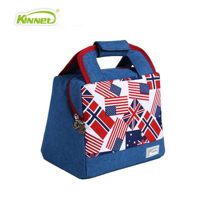 American Flag  Cowboy Handbag Lunch Bag Woman Kid Warm Food Picnic Box Office Workers Aluminum Thermal Cooler Bag Bolsa Termica