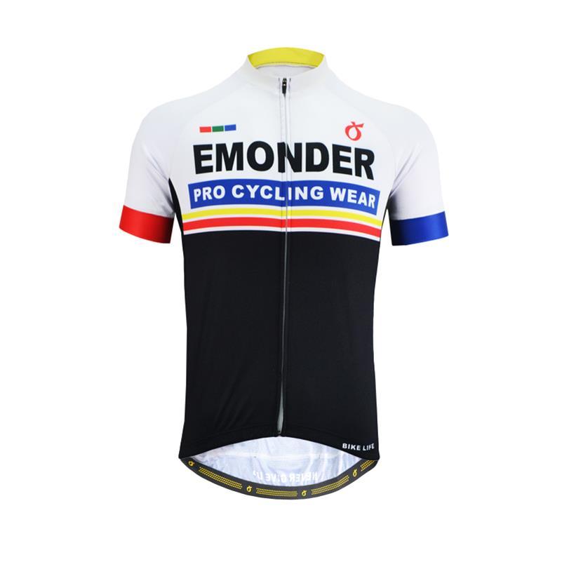 EMONDER Cycling Clothing Shirt Jersey-Tops Short-Sleeve Maillot Racing Summer Mtb Ropa-Ciclismo
