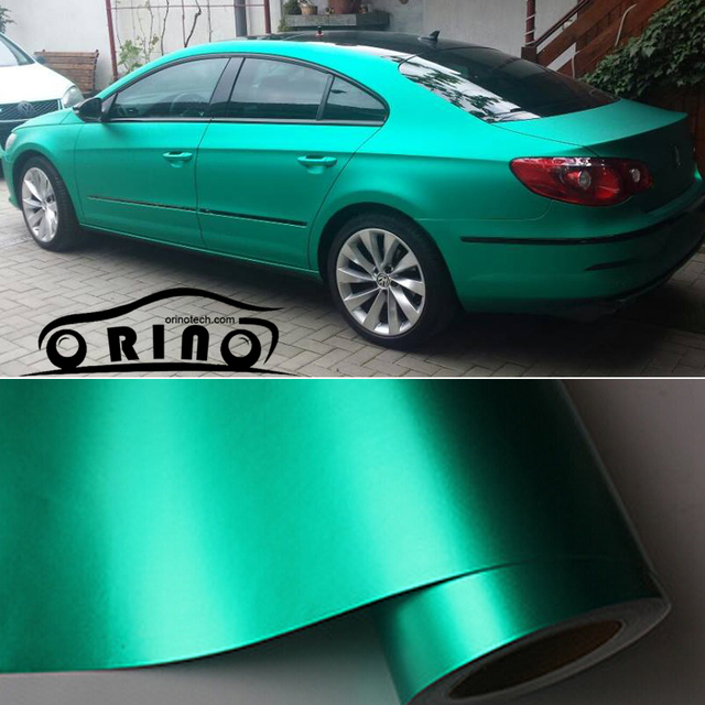 d4d13f645b 1.52x20m/Roll Tiffany Blue Metallic Matt Vinyl wrap Car Wrap With Air  Bubble Free Chrome Matt Film Vehicle Wrapping Sticker