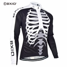 Bxio Men's Winter Thermal Fleece MTB Cycling Jersey Shirt Bike Jersey Pro Bike Team Long Sleeves Ropa Ciclismo Hombre 042-J