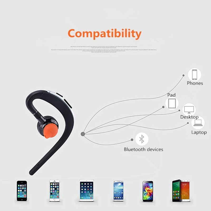 Voice control Bluetooth headset Noise cancelling isolation wireless earphone with microphone handsfree sports music headphone (17)