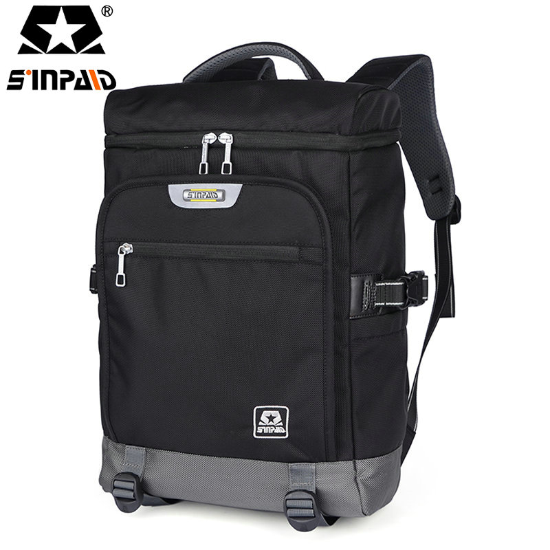 2017 Men Male Nylon Backpack College Student School Backpack Bags for Teenagers Vintage Mochila Casual Rucksack Travel Daypack-5