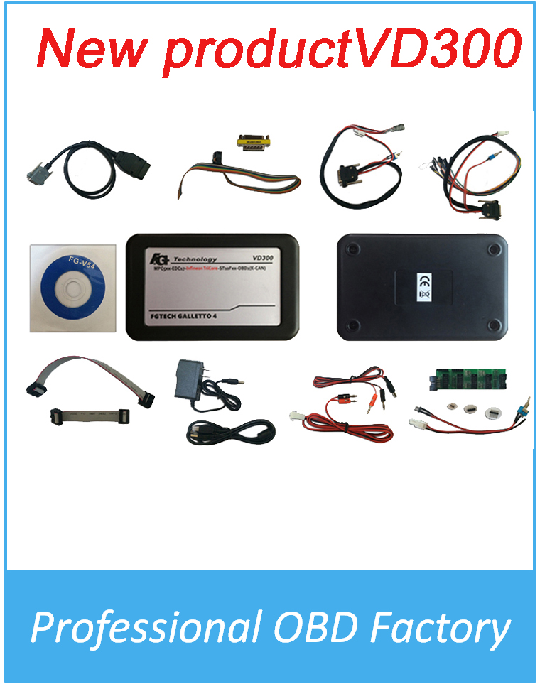 New Arrival VD300 font b tool b font V54 FGTech Galletto 4 Master BDM TriCore OBD