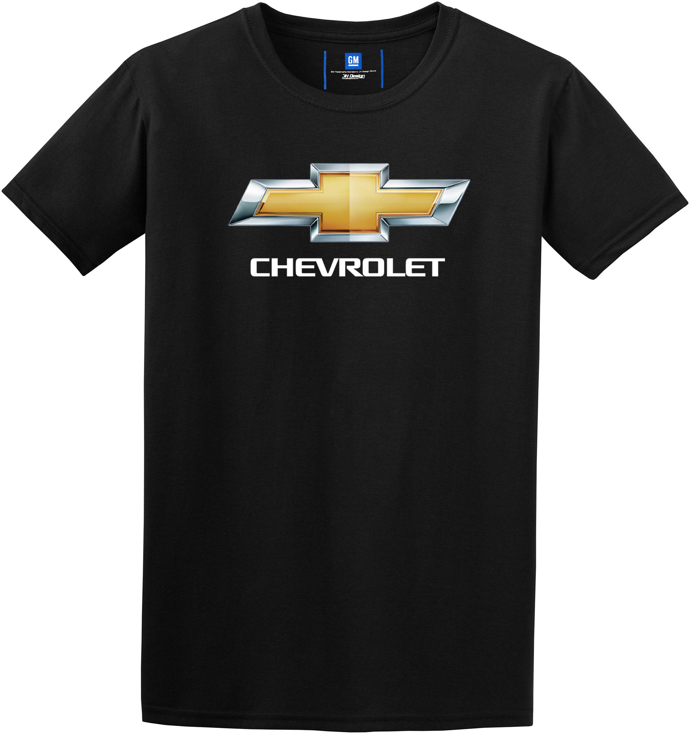 JH DESIGN GROUP Mens Chevy Bow Tie Black Crew Neck T-Shirt