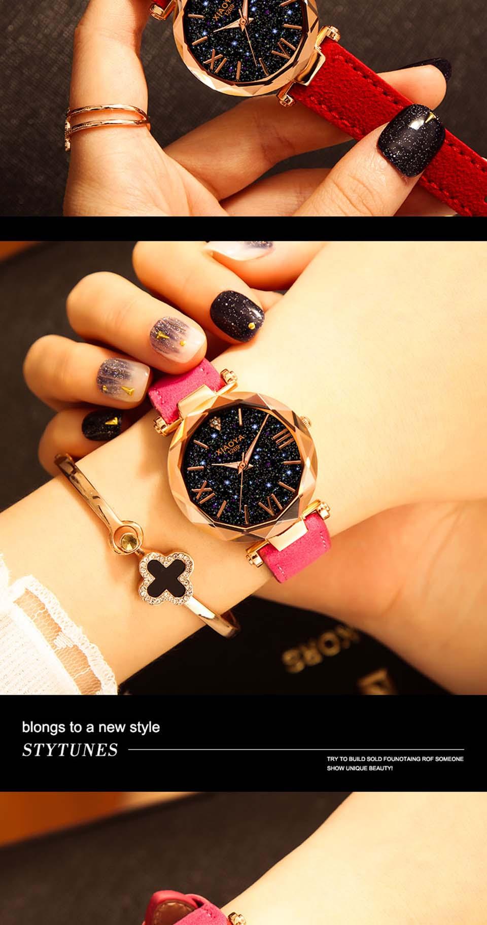 2018 Starry Sky Watch Women Minimalist Top Brand Luxury Wrist Watch For Ladies Female Clock Damski Montre Femme (9)