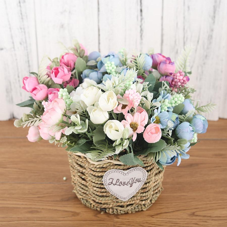 Flowers Bouquet Silk Fake