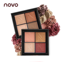 NOVO Makeup Eyeshadow Palette Naked Glitter Eyeshadow Smoky Eye Shadow maquiagem Shining Eye Shadow 4 Colors