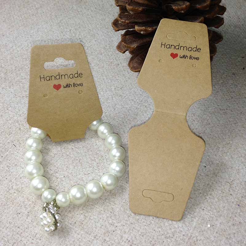 2017 NEW DIY Hand font b Made b font With Love White Earring Card For 1