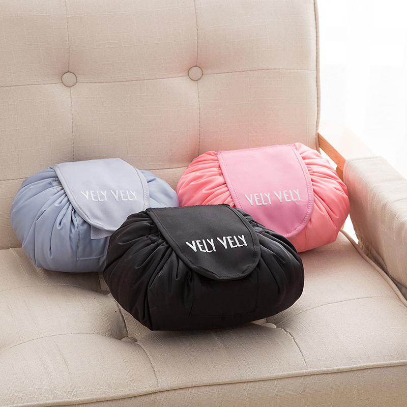 2018 Creative Korea Lazy Cosmetic font b Bag b font Large Capacity Portable Drawstring Storage Artifact