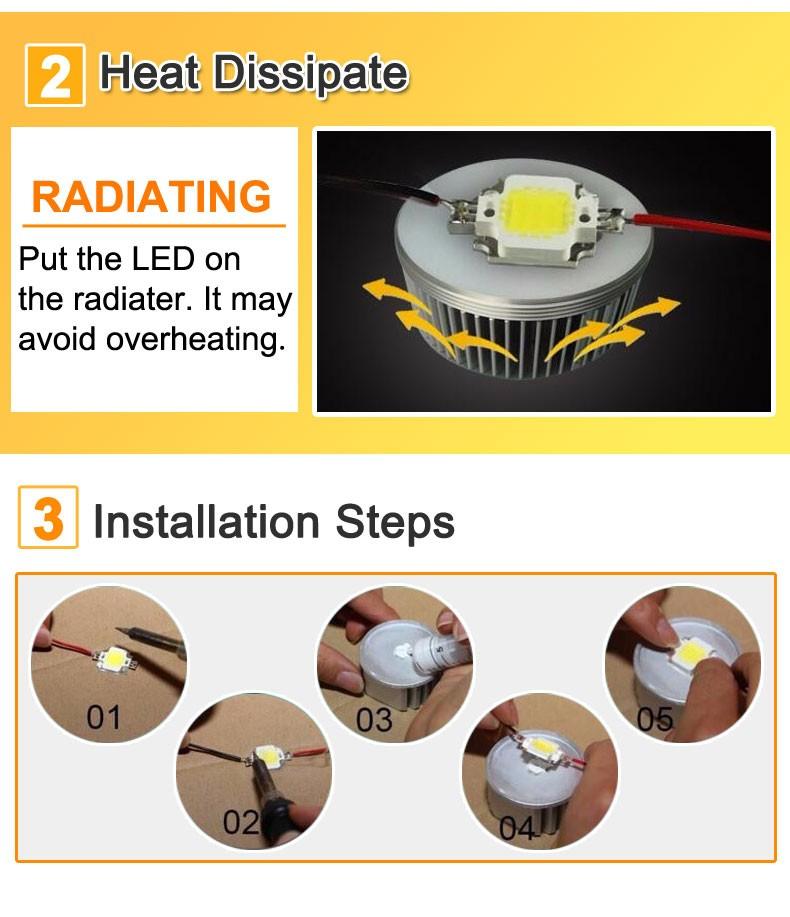 COB LED Lamp Chip 10W 15W W 30W 50W LED COB Bulb Lamp 2V IP65 Smart IC Driver Cold/ Warm White LED Spotlight Floodlight 10