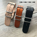 Classic 18 20 22 24MM NATO Leather Watchband ,NATO Mens Fashion Leather Watch Strap,Free Shiping
