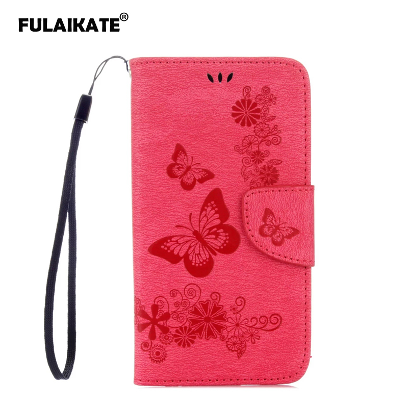 FULAIKATE Butterfly <font><b>Flip</b></font> <font><b>Case</b></font> for <font><b>Samsung</b></font> Galaxy <font><b>S5</b></font> <font><b>mini</b></font> Back Cover Embossed Holster for <font><b>S5</b></font> <font><b>mini</b></font> Mt Phone Protective <font><b>Cases</b></font> image