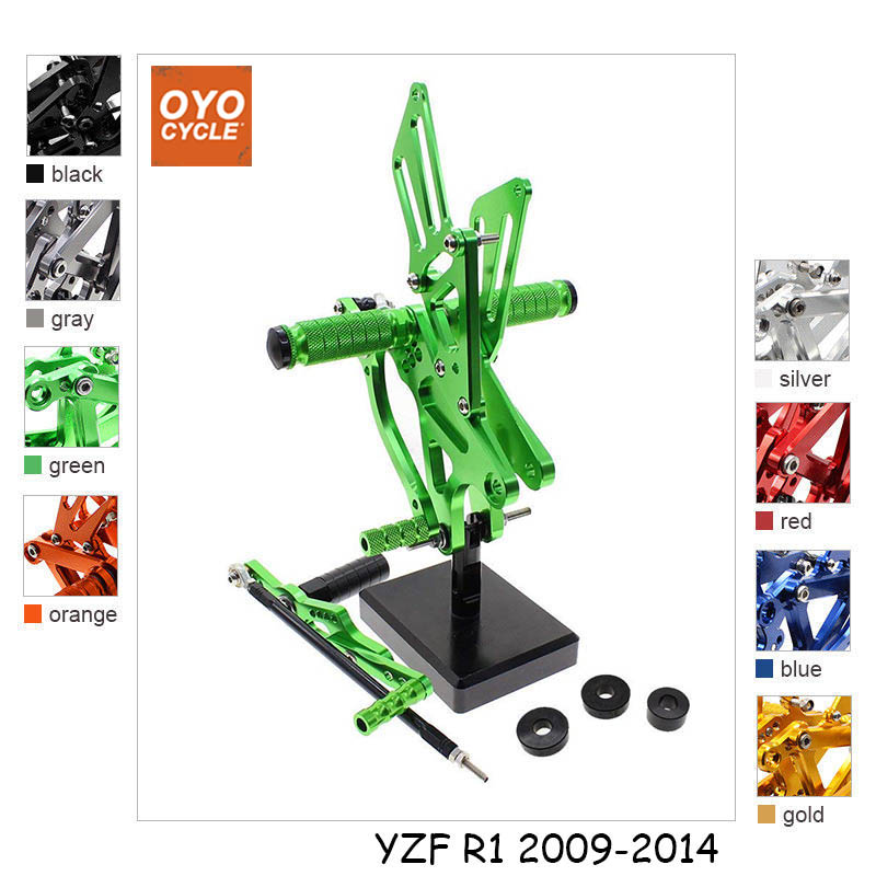CNC Adjustable Rearsets Foot Rest Foot Pegs Foot Rests For Yamaha YZF R1 2009 2010 2011 2012 2013 2014 cnc rearsets for yamaha yzf r1 2009 2010 2011 2012 2013 2014 yzf r1 full set of adjustable rear set foot pegs footrest