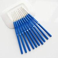 Blue 10 Pcs Crochet Hook Knitting Tool Needle Bar Auxiliary Tool Knitting Tool Bearded Needle Latch