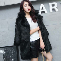Nice Faux Fur Coat Women Faux Fur Coat Warm Black M 2XL Faux Fur Vest Winter Jackets Women High Quality Coats Outwear