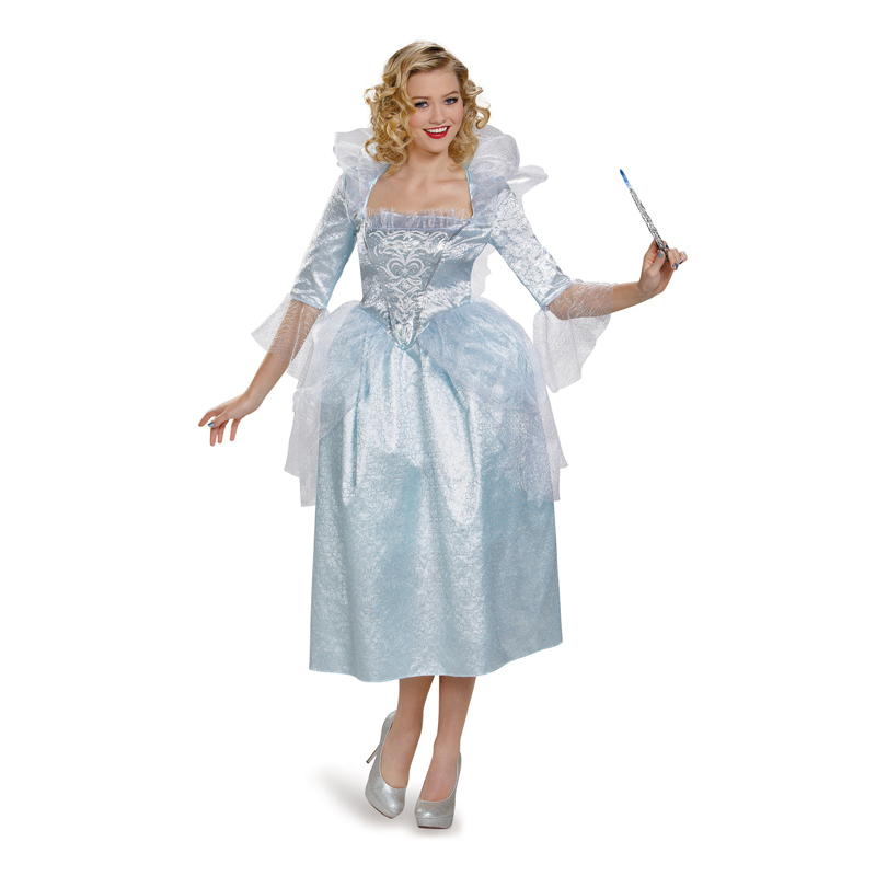 Dashing Cinderella Princess Cosplay Cinderella Dress For Adult Women Blue Deluxe Cinderella Cosplay Costume Girl Wedding Dress Low Price Home