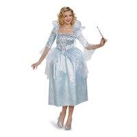 Limited Deluxe Women's Cinderella Fairy Godmother Movie Halloween Costume Adult Cosplay Fancy Dress