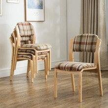 Домашний тканевый кафе обеденный стул современный простой гостиничный стул спинка Европейский стиль стол стул один стул