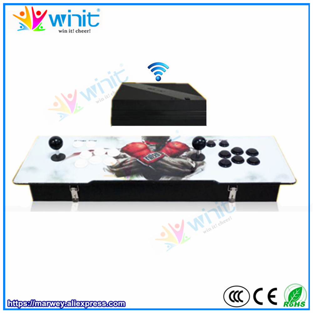 Iconnapp Comport Carpet Karpet Mercy E300 Deluxe 12cm Wireless Pandora 5s Arcade Game Station Console Built In 1388 Classic Games Hd Video 2 Players Joystick Controller Box