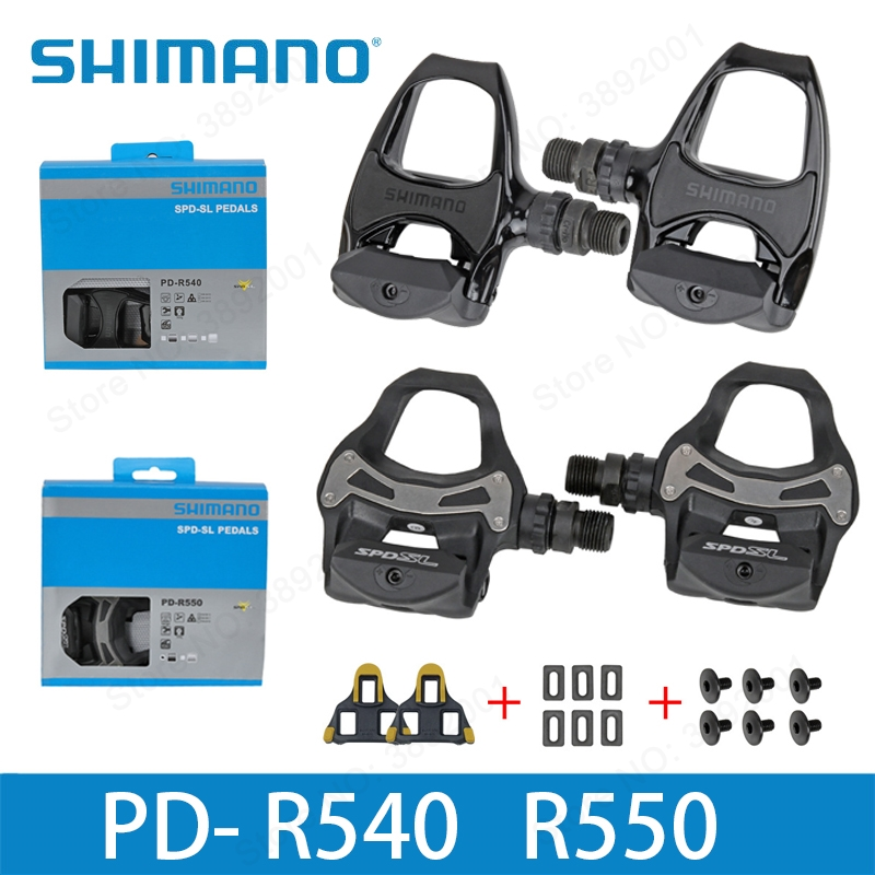 SHIMANO R550 R540 road bike Pedals SPD-SL Self-Locking SPD Pedals Components Using for Bicycle Racing PD R550 PD R540 Pedals r550