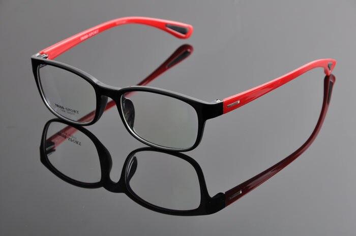 TR90 спортивные полный кадр очки ультра легкий Play для верховой езды очки для близорукости оправы для очков Для мужчин DD0876 - Цвет оправы: black red