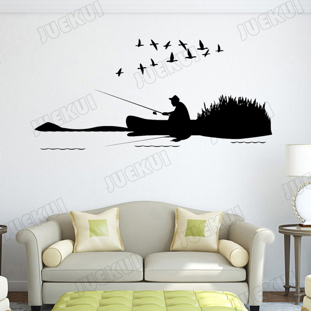 Wild Goose Fishing Nature Wall Stickers For Living Room Removable