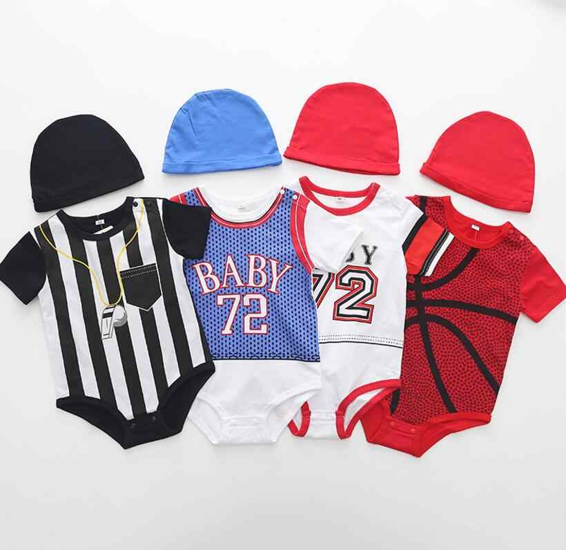 0dae063ae Detail Feedback Questions about Mini sport baby rompers basketball ...