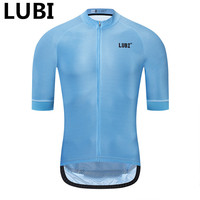 LUBI 7 Colors Men Summer Cycling Jersey Pro Team Quick Dry Bike Clothing Racing MTB Bicycle Clothes Shirt Ropa Ciclismo Uniform