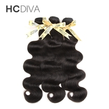 HCDIVA Malaysian Body Wave 100 Human Hair Bundles 8 28 Inch Can Be Dyed Non Remy