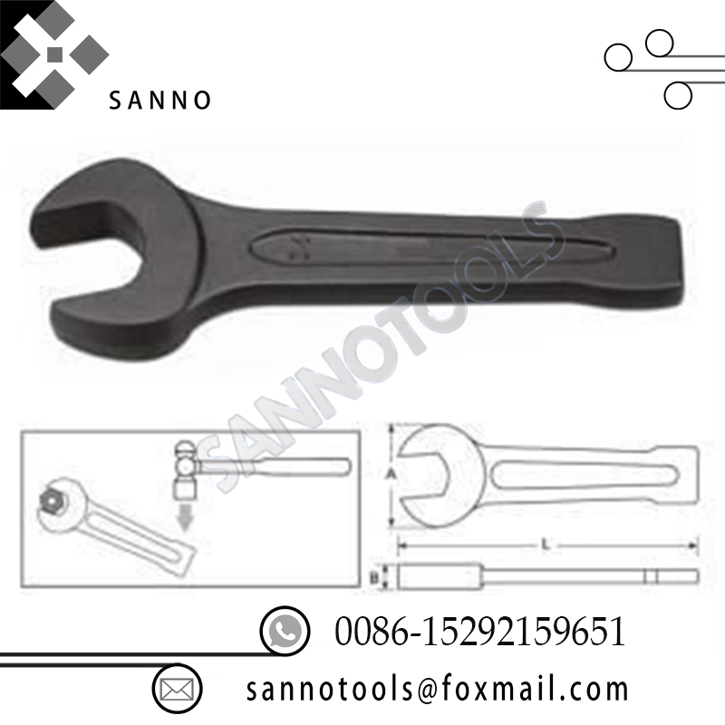 High Quality Slogging Open End Spanner 24mm 27mm  30mm  41mm  50mm Hand Tools Knock On Single Open Spanner